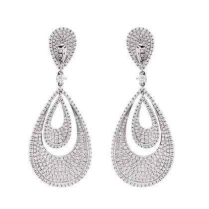Diamond Pavé Pearshape Earrings