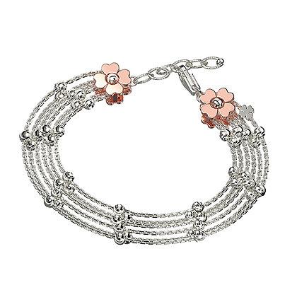 Multi-Strand Flower Bracelet