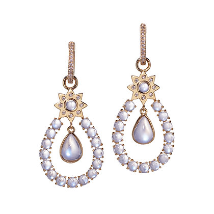 Moonstone Chandelier Drop Earrings