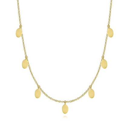 Matte Gold Long Necklace