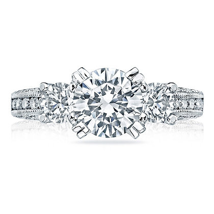 3-Stone Center Engagement Ring