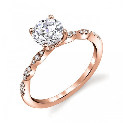 Diamond Marquise-shape Station Engagement Ring