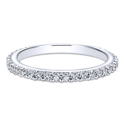 Diamond Shared Prong Eternity Wedding Band