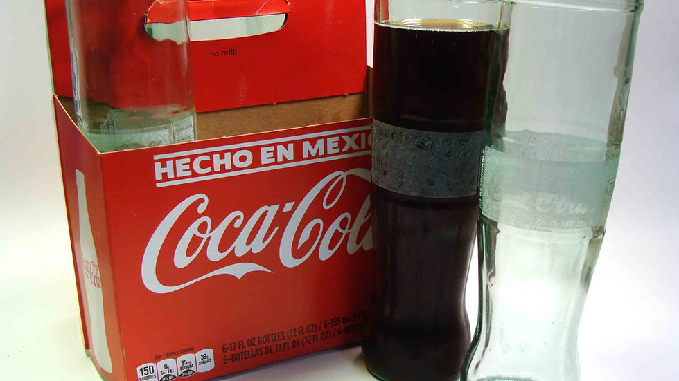 copy of Hand Blown Recycled Glasses / Mexican Coke