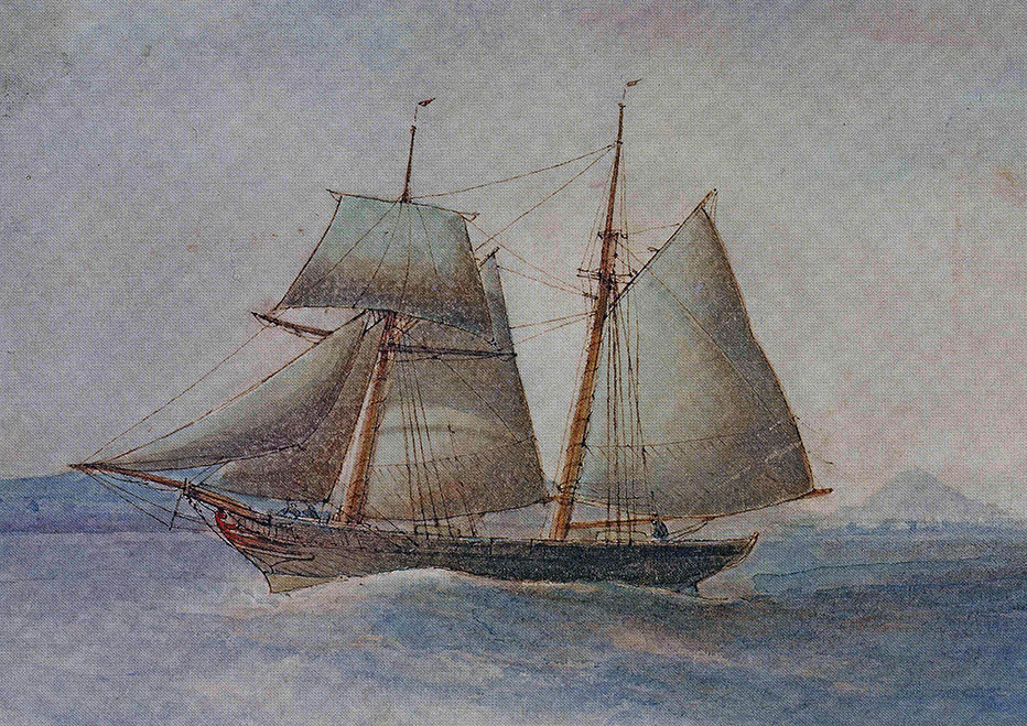 Watercolour of the original vessel