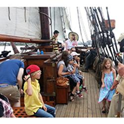 Passengers enjoying a sail