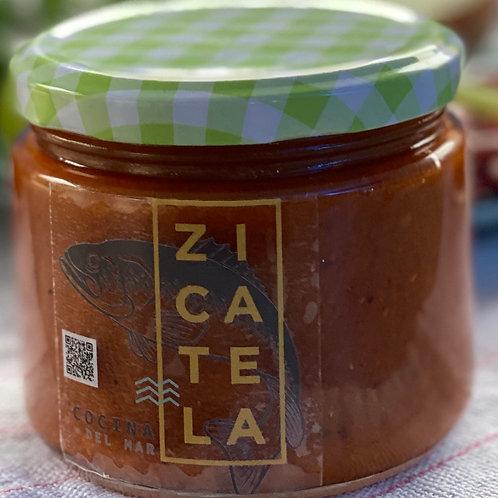 Home-made hot salsa