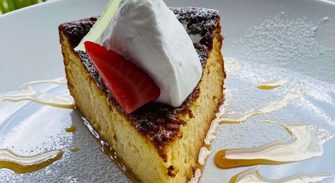 White corn cake