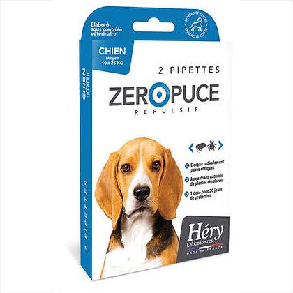 Pipette chien moyen zéro puce - Héry