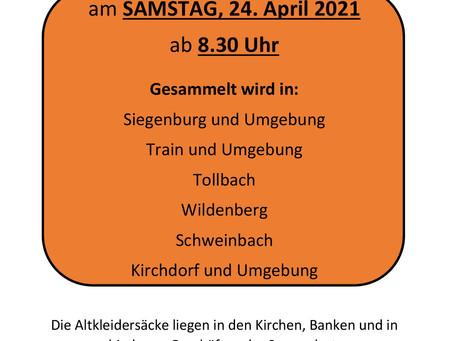 Altkleidersammlung April 2021