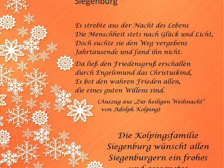 Weihnachtsgrüße der Kolpingsfamilie