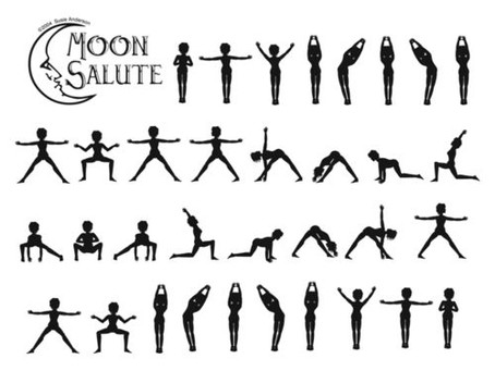 Moon Salutations, Yoga Sequence