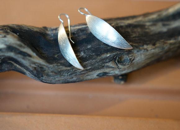 Silberohrhänger   gehämmert