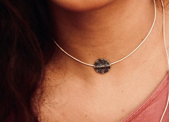 Halskette | Gehämmerter Silberanhänger