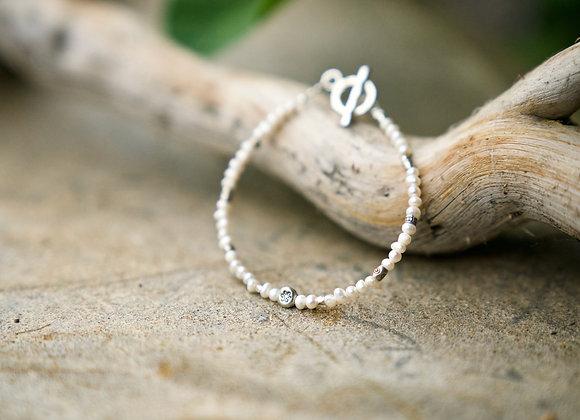 Armband | Perlen mit Silber