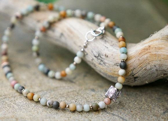 Halskette | Amazonit mit Silber