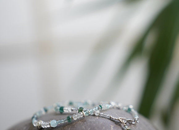 Armband | Mondstein mit Silber
