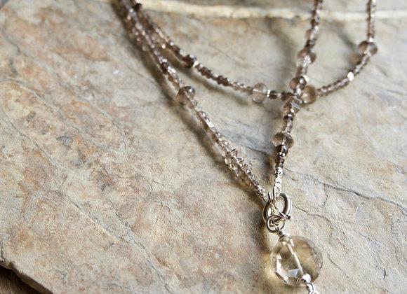 Halskette | Lang | Rauchquarz mit Silber (exkl. Anhänger)