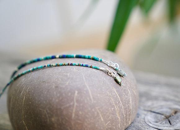 Armband | Türkis mit Silber | dünn