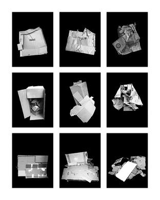 ©Gaëlle Abravanel, Les Cartonnés 2, série Portrait des Encombrants 2020