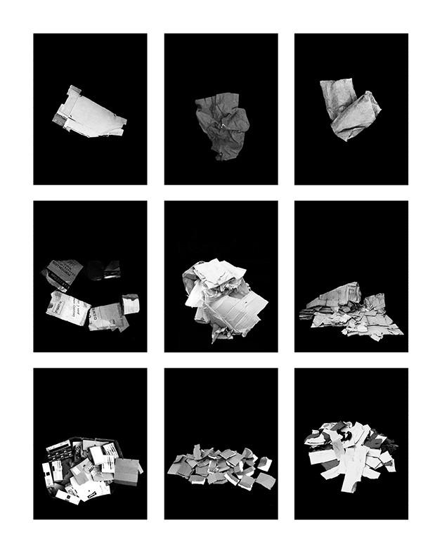 ©Gaëlle Abravanel, Les Cartonnés 1, série Portrait des Encombrants 2020
