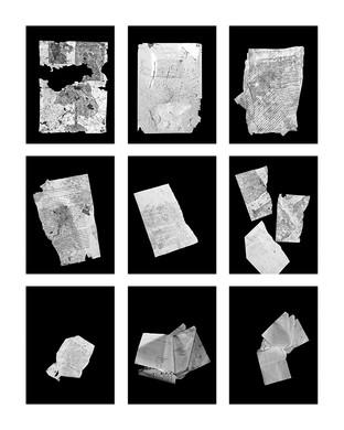 ©Gaëlle Abravanel, Les Papiers, série Portrait des Encombrants 2020