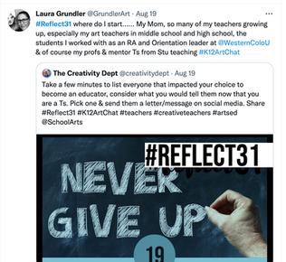 Reflect 31:  A personal reflection
