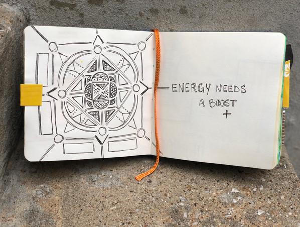 Energy, Mandalas are calming and full speak to being centered, I felt the need for positive energy so i drew a mandala.