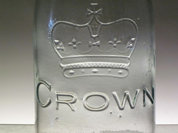 christian crown fruit jar