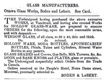 ottawa glass works boden and lebert