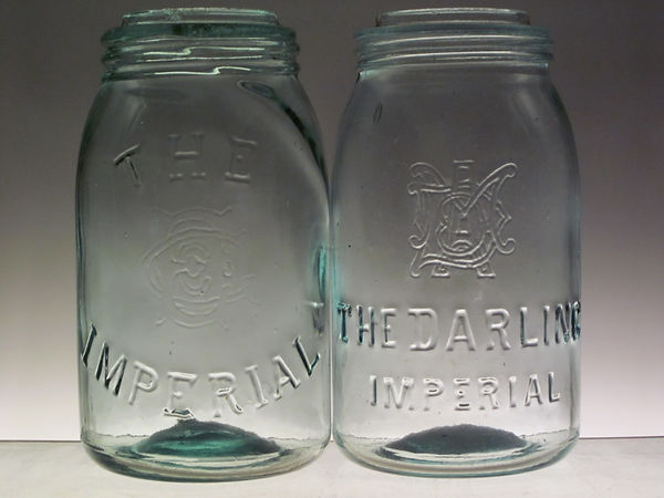 E G Co darling fruit jar