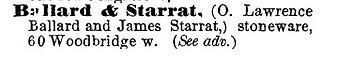 ballard & starrat stoneware
