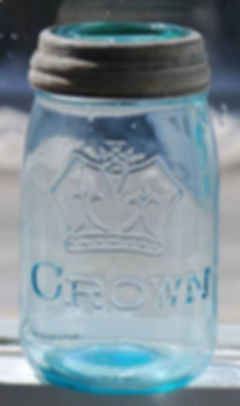 no dot crown pint fruit jar