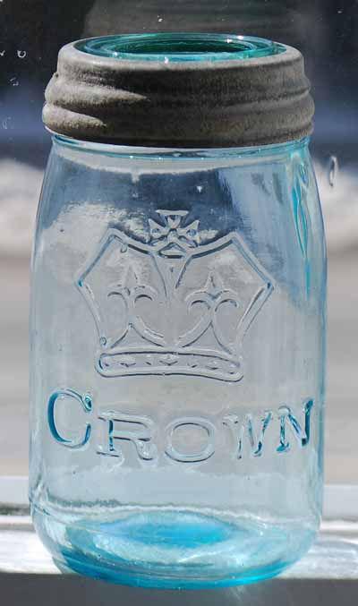no dot crown pint fruit jar