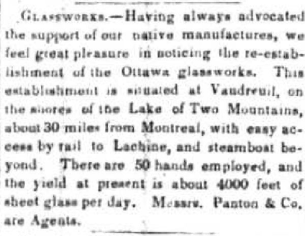 10-1851 june 21 MTL GAZ article O glass.