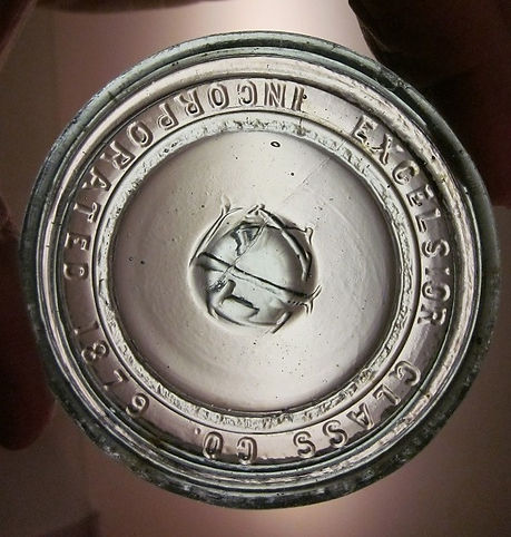 excelsior glass co fruit jar lid