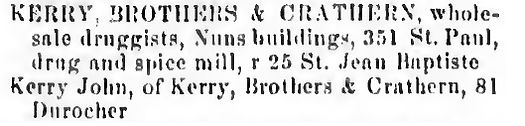 4A-1865 MTL DIR- Kerry, Brothers and Cra