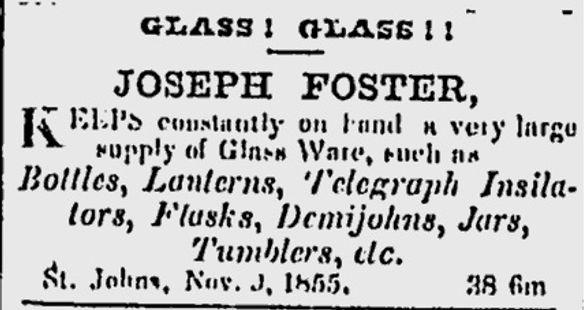 Joseph Foster glass St Johns