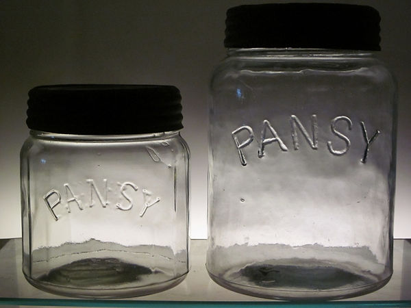 pansy fruit jar