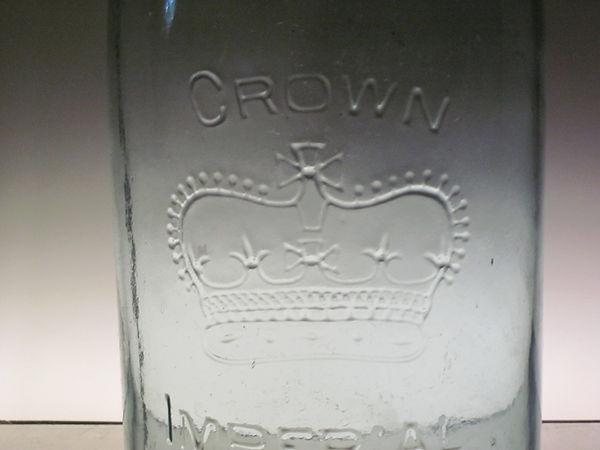 square o crown fruit jar
