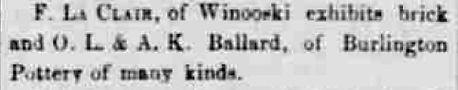 o l & a k ballard burlington stoneware