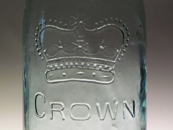 tall cross crown fruit jar