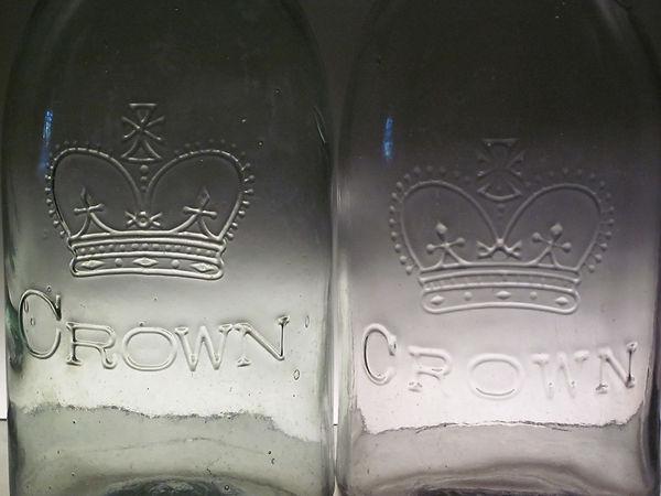 heart crown fruit jar