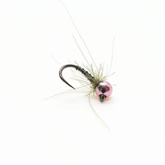 Pink Olive CDC - Tungsten Jig Nymph