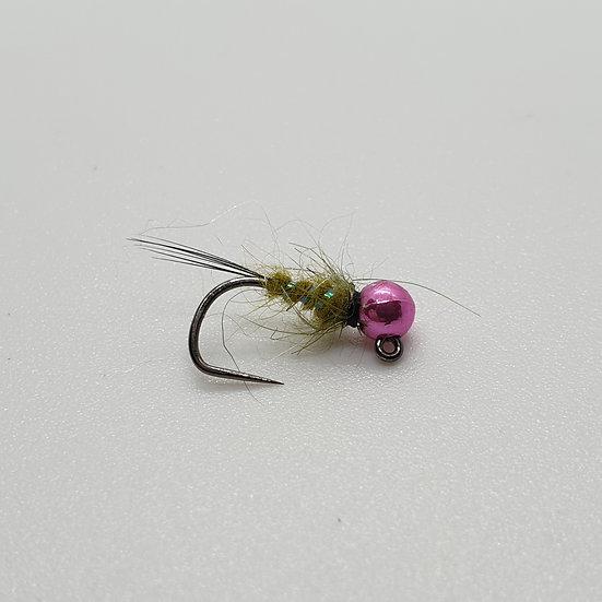 Tungsten Pink HS Caddis Jig Nymph