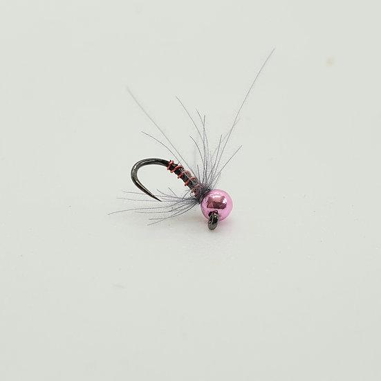 Pink Grey Tungsten Jig Nymph