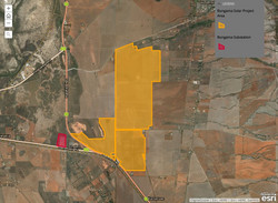 Bungama Solar Project map
