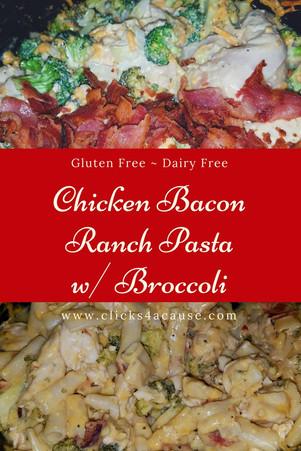 Chicken Bacon Ranch Pasta Recipe (Dairy & Gluten Free)