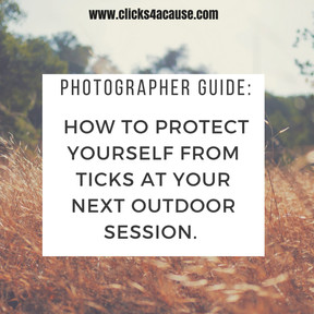Photographer Guide: How to protect yourself from Ticks at your next outdoor session.