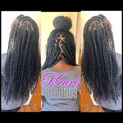 Boho triangle box braids 💜💜_Rudy Huxta